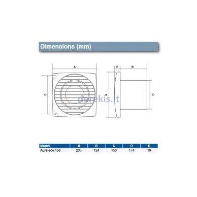 Ventiliatorius Airflow Aura Eco 150B 4
