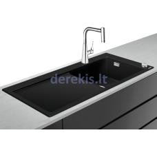 Virtuvės plautuvės ir maišytuvo komplektas Hansgrohe C51, 43214000