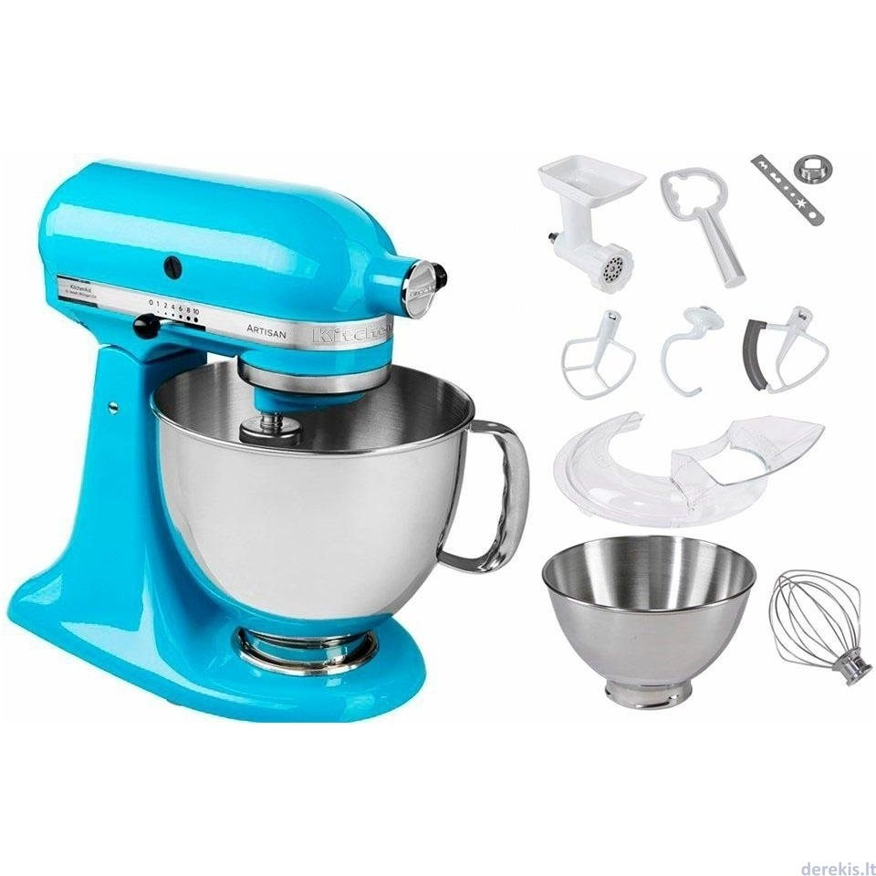 KITCHENAID 5KSM175PSECL Artisan Elegance, crystal blue | Food ...