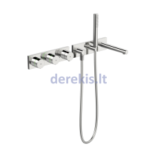 Vonios ir dušo maišytuvo dekoratyvinė dalis su dušo komplektu, 230/12 V Oras Inspera 3078
