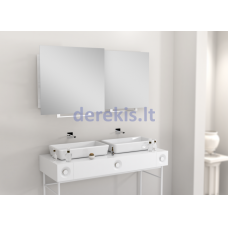 Vonios kambario veidrodis Luk Miior, 60 x 60 cm (atitraukiamas)