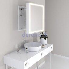Vonios kambario veidrodis Miior Com 60 x 60cm (atitraukiamas)