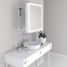 Vonios kambario veidrodis Miior Com 78 x 60cm (atitraukiamas)