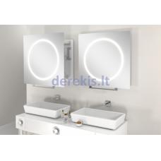 Vonios kambario veidrodis Miior Win 60 x 60cm, (atitraukiamas)