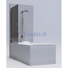 Vonios sienelė KAME Pilkas / chromas / 1721L