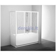 Vonios sienelė RAVAK APSV 70 balta+stiklas Grape, 95010102ZG