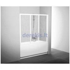 Vonios sienelė RAVAK AVDP3 180 baltos+stiklas Transparent, 40VY0102Z1