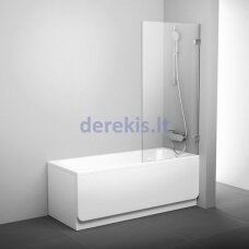 Vonios sienelė Ravak BVS1 80 chromas+stiklas Transparent 7U840A00Z1 + montavimo komplektas B SET BVS1 80 chromas D01000A070