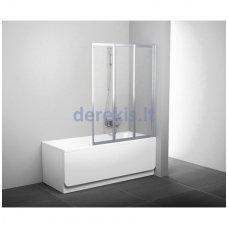 Vonios sienelė RAVAK VS3 130 balta+plastikas Rain, 795V010041