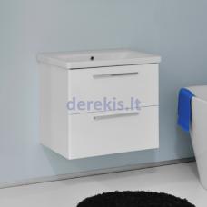 Vonios spintelė su praustuvu Bergen Onix 65 (rankenėlių spalvą galima pasirinkti)