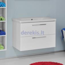 Vonios spintelė su praustuvu Bergen Onix 80 (rankenėlių spalvą galima pasirinkti)
