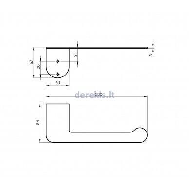 Vonios aksesuarų rinkinys Rubineta ALTO (BK) 670119 5