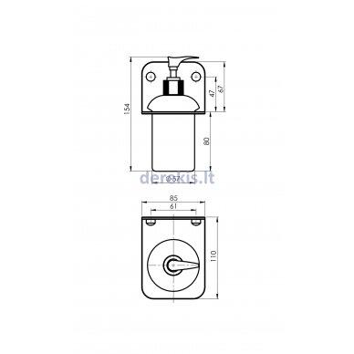 Vonios aksesuarų rinkinys Rubineta ALTO (BK) 670119 11