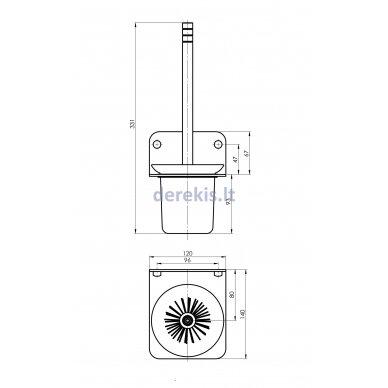 Vonios aksesuarų rinkinys Rubineta ALTO (BK) 670119 3