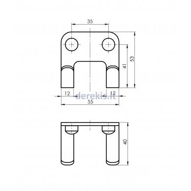 Vonios aksesuarų rinkinys Rubineta ALTO (BK) 670119 7