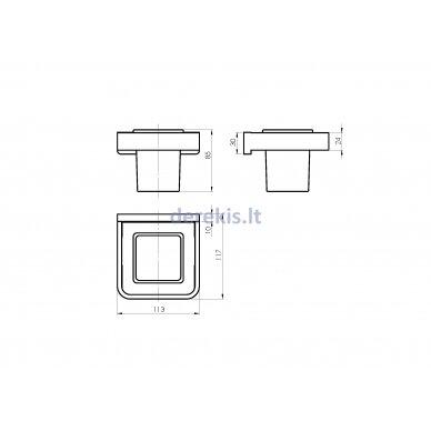 Vonios aksesuarų rinkinys Rubineta EDELA (BK) 670115 5