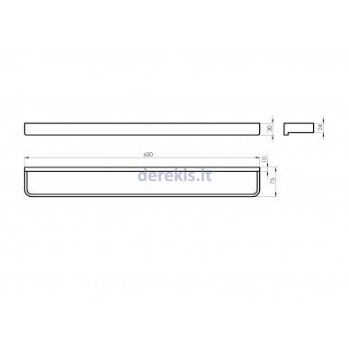 Vonios aksesuarų rinkinys Rubineta EDELA (BK) 670115 7