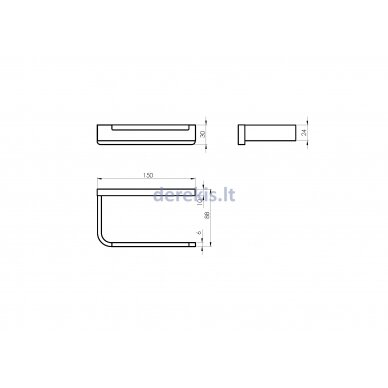 Vonios aksesuarų rinkinys Rubineta EDELA (BK) 670115 9