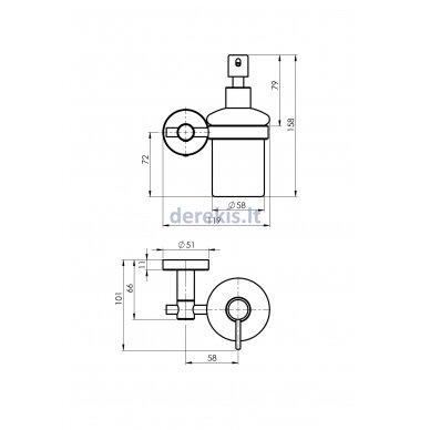 Vonios aksesuarų rinkinys Rubineta ROTE 670118 11