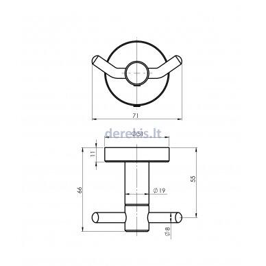 Vonios aksesuarų rinkinys Rubineta ROTE 670118 5