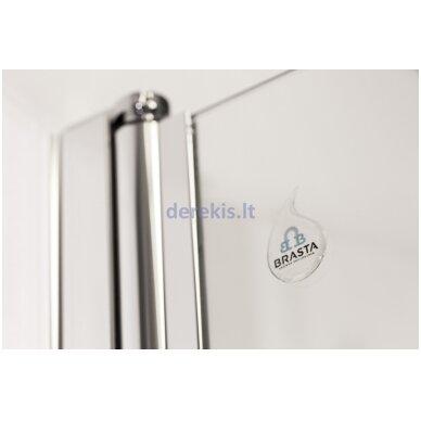 Vonios sienelė Baltijos Brasta Berta (dydį ir stiklo spalvą galima pasirinkti) 4