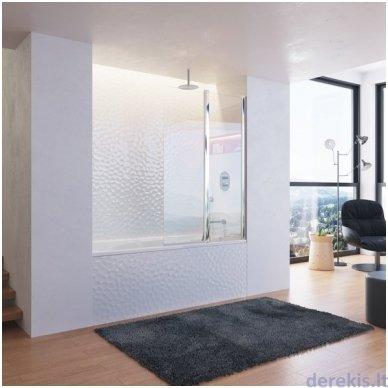 Vonios sienelė Ravak CVS2-100 R balta+stiklas Transparent, 7QRA0100Z1 3