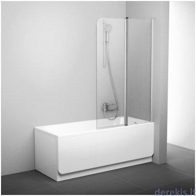 Vonios sienelė Ravak CVS2-100 R balta+stiklas Transparent, 7QRA0100Z1