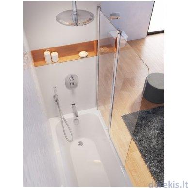 Vonios sienelė Ravak CVS2-100 R balta+stiklas Transparent, 7QRA0100Z1 2