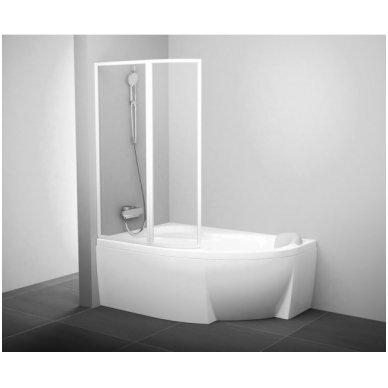 Vonios sienelė Ravak VSK2 Rosa 140 L balta+plastikas Rain, 76L7010041