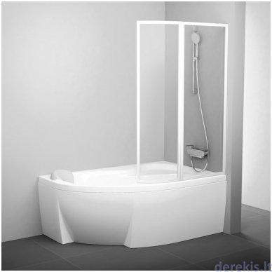 Vonios sienelė Ravak VSK2 Rosa 150 R balta+plastikas Rain, 76P8010041