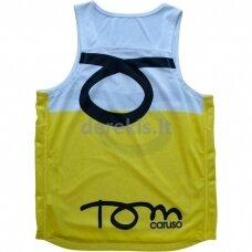 Vyr. Marškinėliai Tom Caruso - Atlanta White Yellow L
