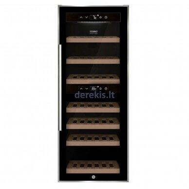 Vyno šaldytuvas CASO WineComfort 38, skirtas lauko sąlygomis, juodas