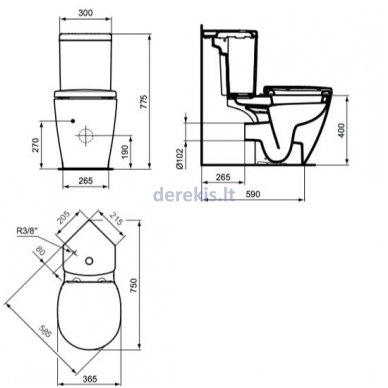 WC bakelis Ideal Standard E1202 2