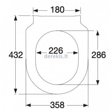WC sėdynė su Softclose dangčiu Villeroy&Boch 9M78S101 3
