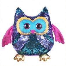 Žaislas - pagalvėlė su žvyneliais Pelėda Fancy