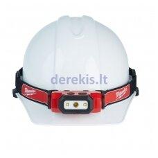 Žibintuvėlis ant galvos MILWAUKEE L4 HL-201 USB, 4933459443