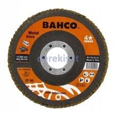 Žiedlapinis metalo ir nerūdijančio plieno šlifavimo diskas Bahco INOX+Fe T42 P120 125x22.23mm