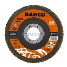 Žiedlapinis metalo ir nerūdijančio plieno šlifavimo diskas Bahco INOX+Fe T42 P40 125x22.23mm