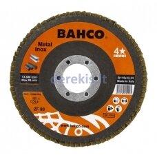 Žiedlapinis metalo ir nerūdijančio plieno šlifavimo diskas Bahco INOX+Fe T42 P60 125x22.23mm