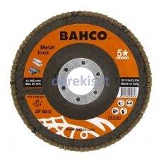 Žiedlapinis metalo ir nerūdijančio plieno šlifavimo diskas Bahco, išgaubtas INOX+Fe P120 125x22.23mm